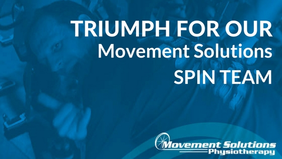 Triumph for the Movement Solutions Physiotherapy Spin Team!